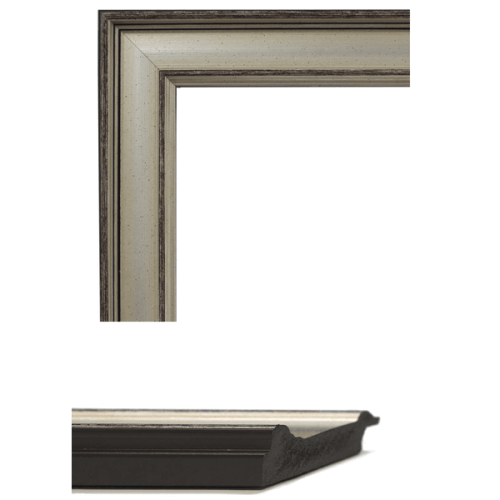 1707  Modern Silver Mirror Frame Sample