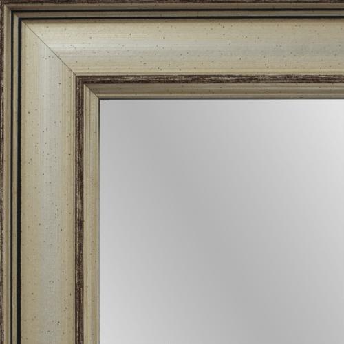 1707 Modern Silver Framed Mirror