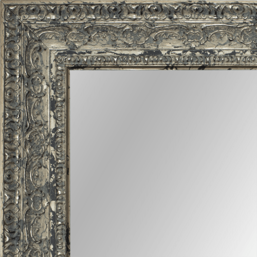 2438 Belgian Silver Framed Mirror