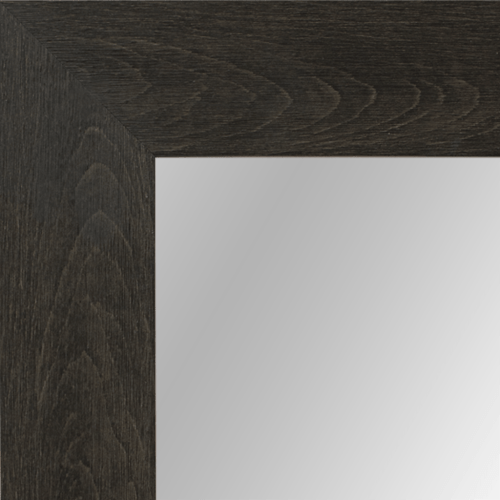 4022 Flat Dark Brown Framed Mirror
