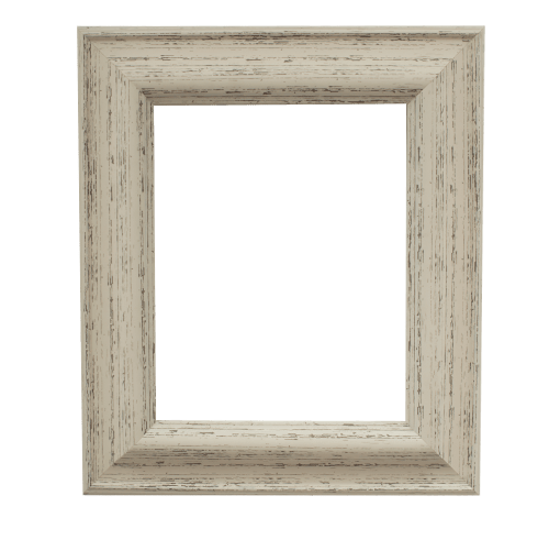 rustic white mirror frame