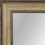 4026 Distressed Cream Framed Mirror
