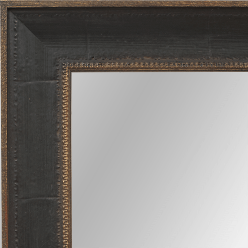 4027 Distressed Brown Framed Mirror