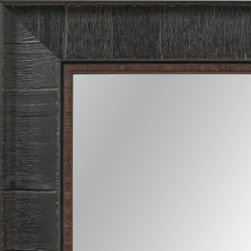 4029 Dark Brown Burl Framed Mirror