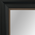 4031 Black With Beading Framed Mirror
