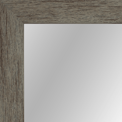 4033 Grey Framed Mirror