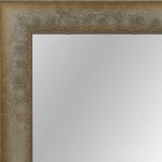 4035 Silver Embossed Framed Mirror