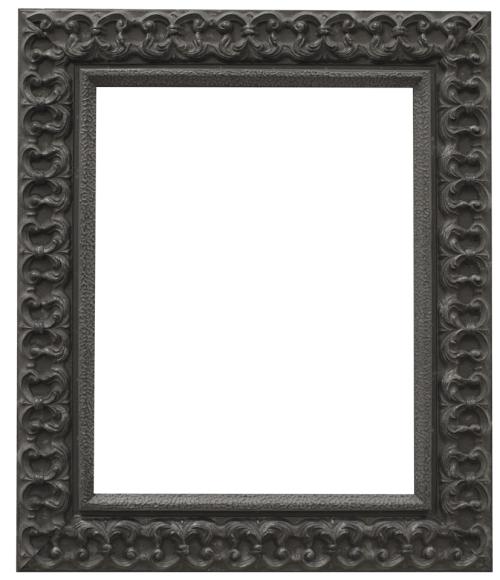 black fleur mirror frame