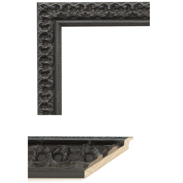 Black Fleur De Lis Mirror Frame Samples