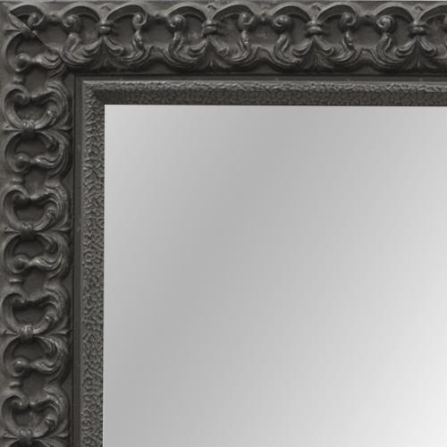 4102 Black Fleur De Lis Framed Mirror