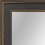 4106 Black And Gold Flat Framed Mirror