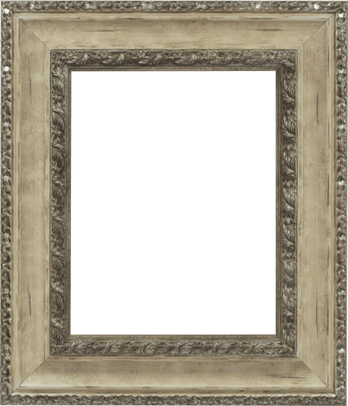 Ivory & Silver Mirror Frame