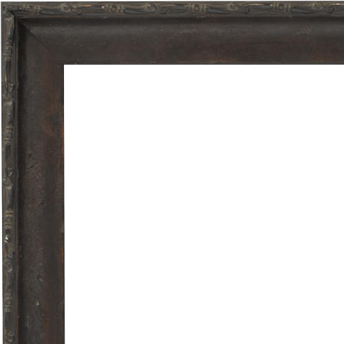4113 Dark Walnut Distressed Mirror Frame