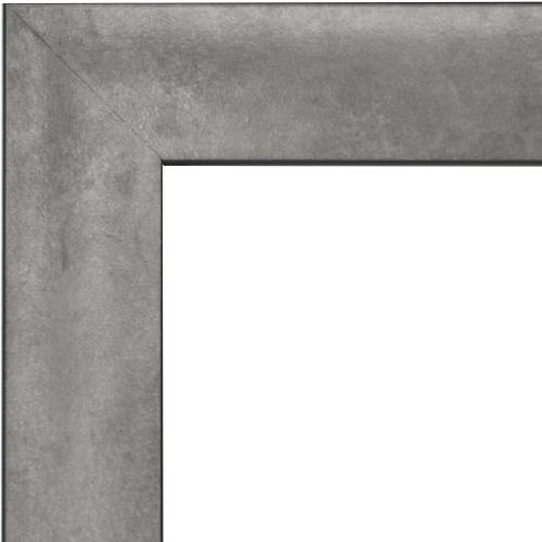 4124 Lunar Silver Scoop Mirror Frame