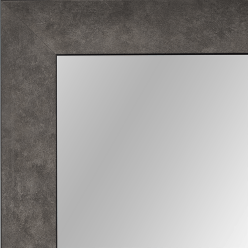 4126 Graphite Scoop Framed Mirror
