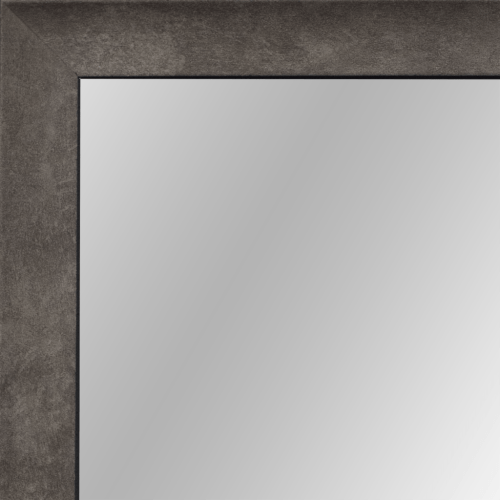4127 Silver Graphite Scoop Framed Mirror