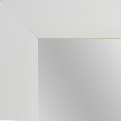 4138 White Flat Framed Mirror