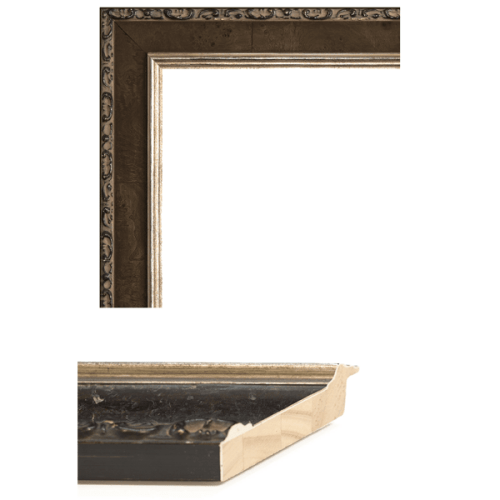 2429 Pumpernickel Mirror Frame Sample