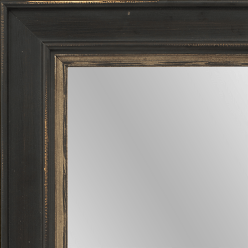 4024 Brown Flat Champagne Framed Mirror