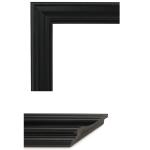 4030 Smooth Black Mirror Frame Sample