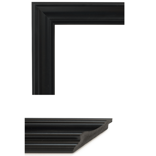 4030 Smooth Black Mirror Frame Sample
