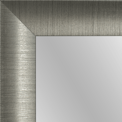 4144 Brush Gunmetal Framed Mirror