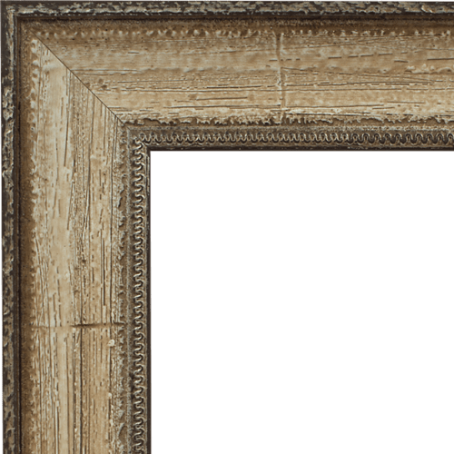 4026 Distressed Cream Mirror Frame