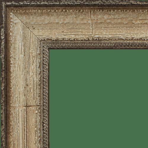 4026 Distressed Cream Mirror Frame
