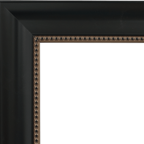 4031 Black with Beading Mirror Frame
