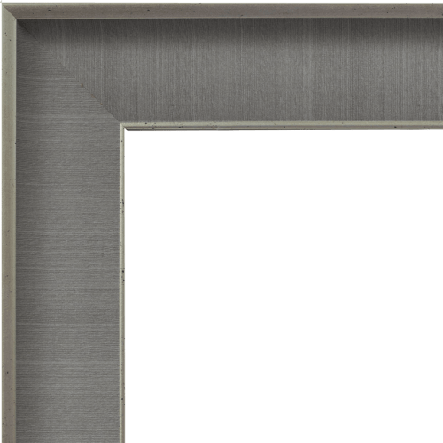 4042 Grey Linen Mirror Frame