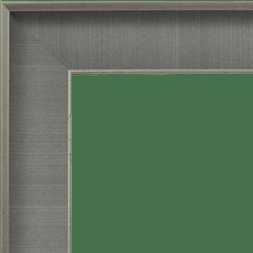 4042 Grey Linen Mirror Frame