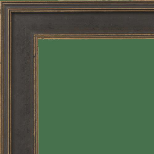4106 Black & Gold Flat Mirror Frame