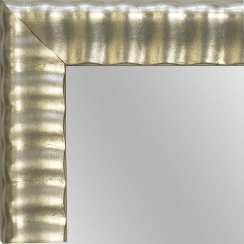 4142 Silver Leaf Framed Mirror
