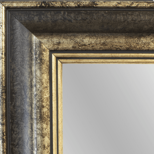 4148 Spanish Tea Stone Framed Mirror