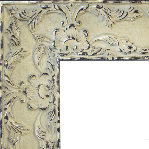 4151 Renaissance Antique White Wash Mirror Frame