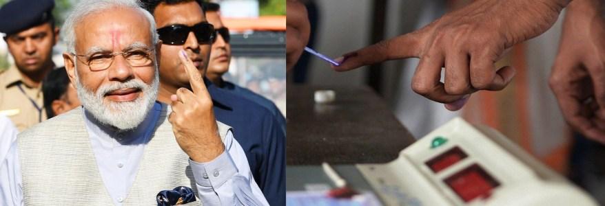 लोकसभा चुनाव के तीसरे चरण का मतदान रहा शांतिपूर्ण, मोदी ने अहमदाबाद में की वोटिंग