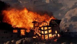 उत्तराखंड : गैस सिलेंडर से घर में लगी भीषण आग, 4 लोग झुलसे, गंभीर हालत में अस्पताल में