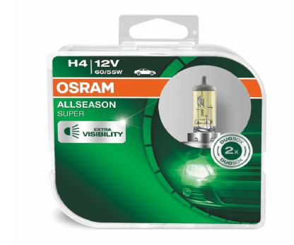 Лампа OSRAM Allseason H4 12V 60/65W 2шт. 64193ALS-HCB