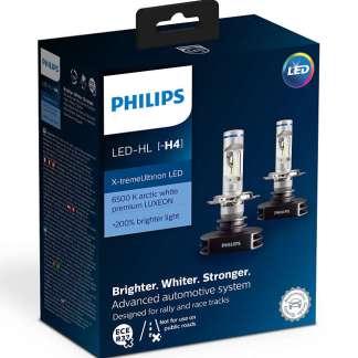Лампы светодиодные PHILIPS X-tremeUltinon H4 12V 2шт. 12901HPX2