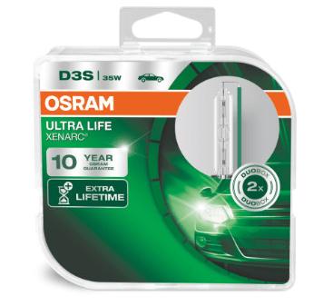 Лампа ксеноновая OSRAM Xenarc Ultra Life D3S 42V 35W 2шт. 66340ULT-HCB