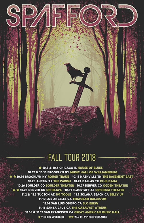 Spafford Announces Fall Tour Dates