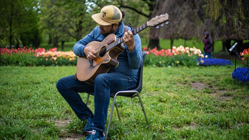 """VIDEO: Rich Ortiz Performing """"Let It Be Life"""" Live From Washington Park in Albany, NY"""