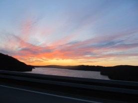 Drive by Sunset between CT and NY