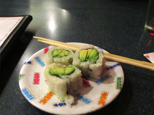 Weekly Photo Challenge: Lunchtime. Avocado roll