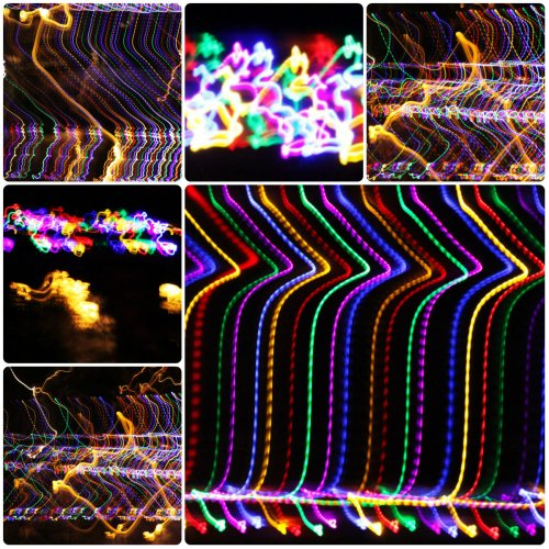 Weekly Photo Challenge: A kaleidoscope of Colorful Xmas Tree and House decor lights In abstract.