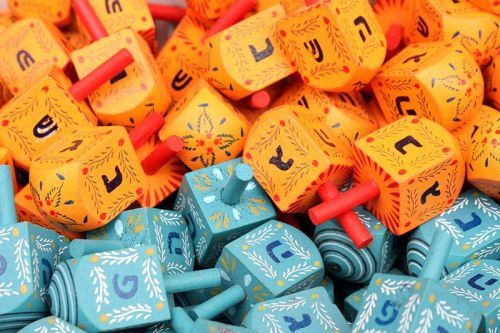 Haiku: Thanksgiving -  A colorful Dreidel adds to the spirit of Hanukkah