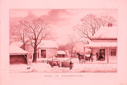 Haiku: A Currier & Ives Thanksgiving card