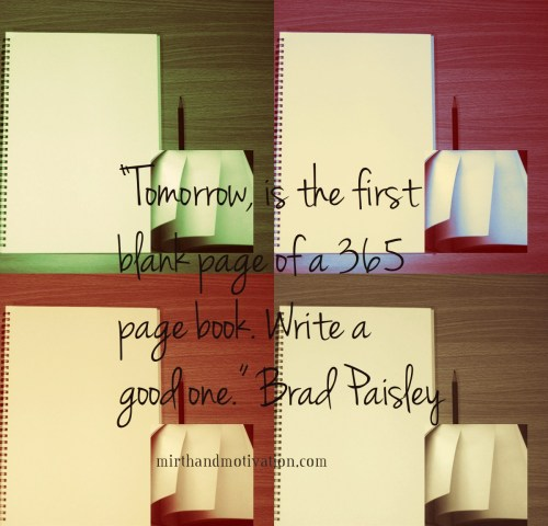Collage of Blank Sketchbooks with Brad Paisley quote for 2013 redux