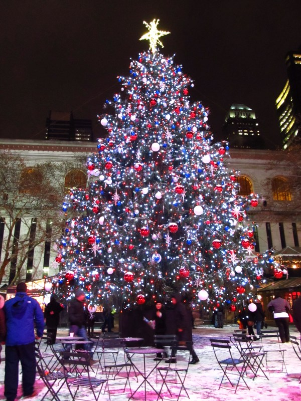 Christmas Is: Love In Action - The sparkling tree at Bryant Park