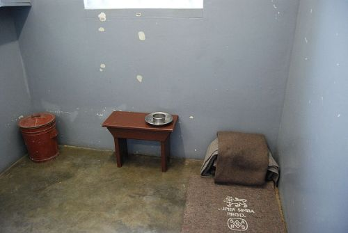Nelson Mandela:  Prison cell in Robben island, South Africa